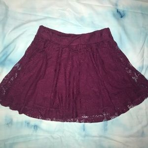 Charlotte Russe Purple Lace Skirt - Gently Used